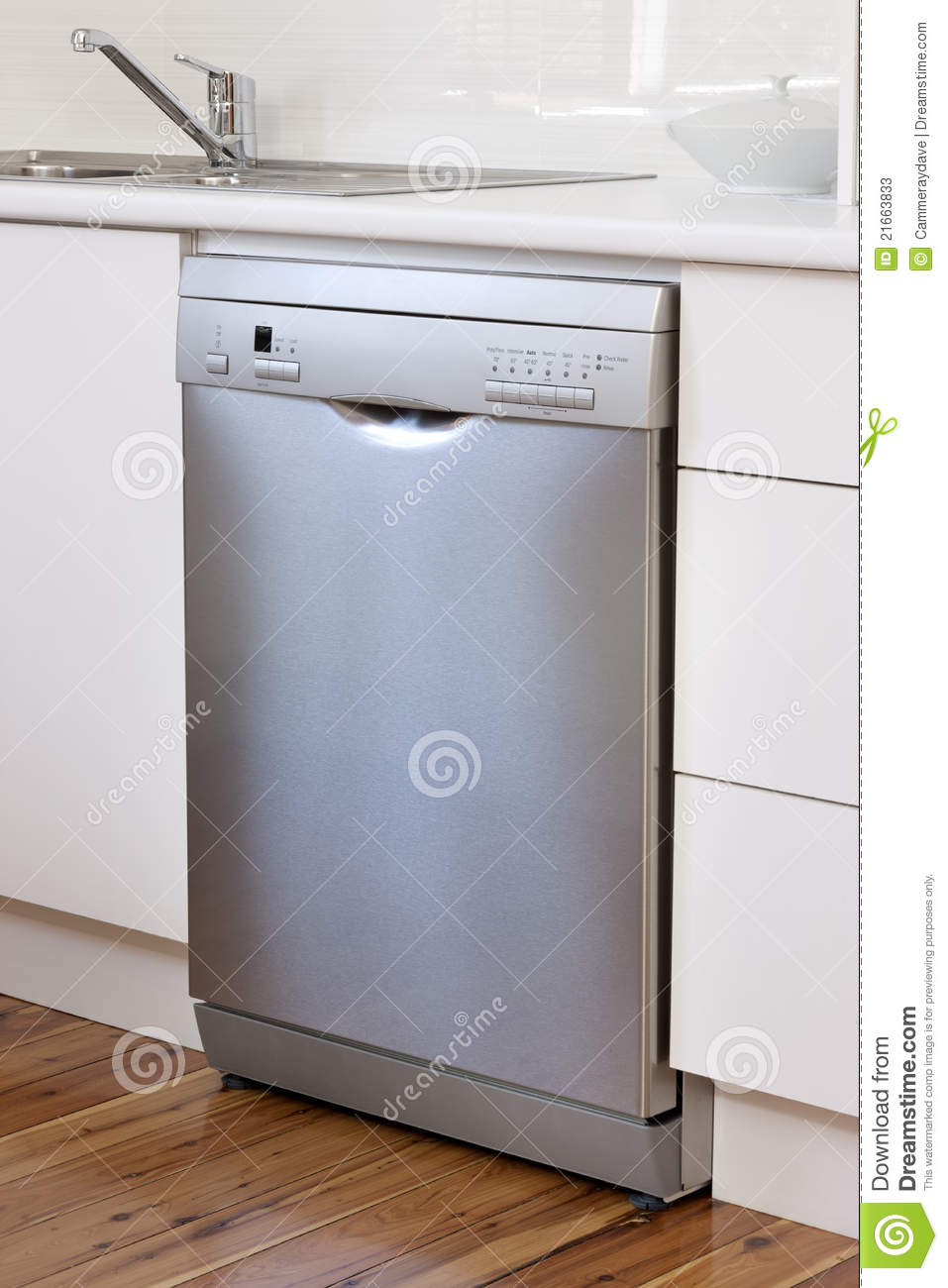 Stainless Steel Dishwasher Appliance Kitchen Stock Image - Image ...