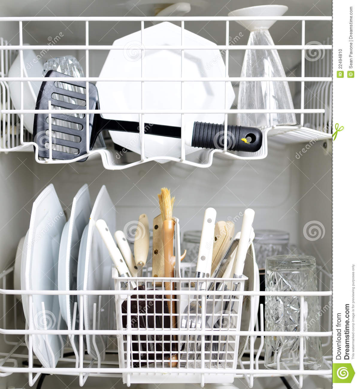 Dishwasher And Dirty Dishes Stock Photo - Image: 22494810