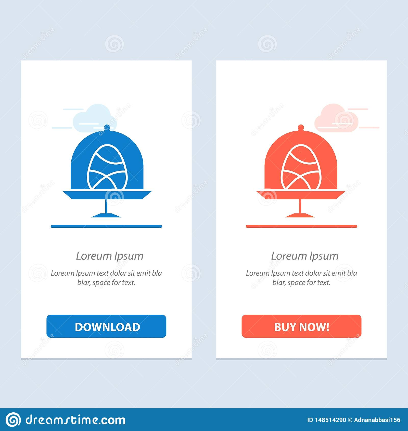 Disk, Egg, Food, Easter  Blue and Red Download and Buy Now web Widget Card Template