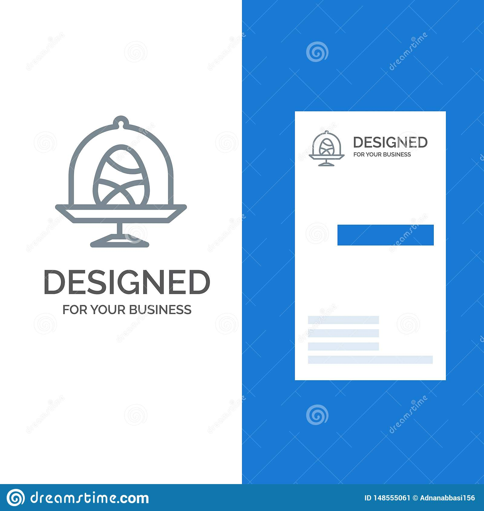 Disk, Egg, Food, Easter Grey Logo Design and Business Card Template