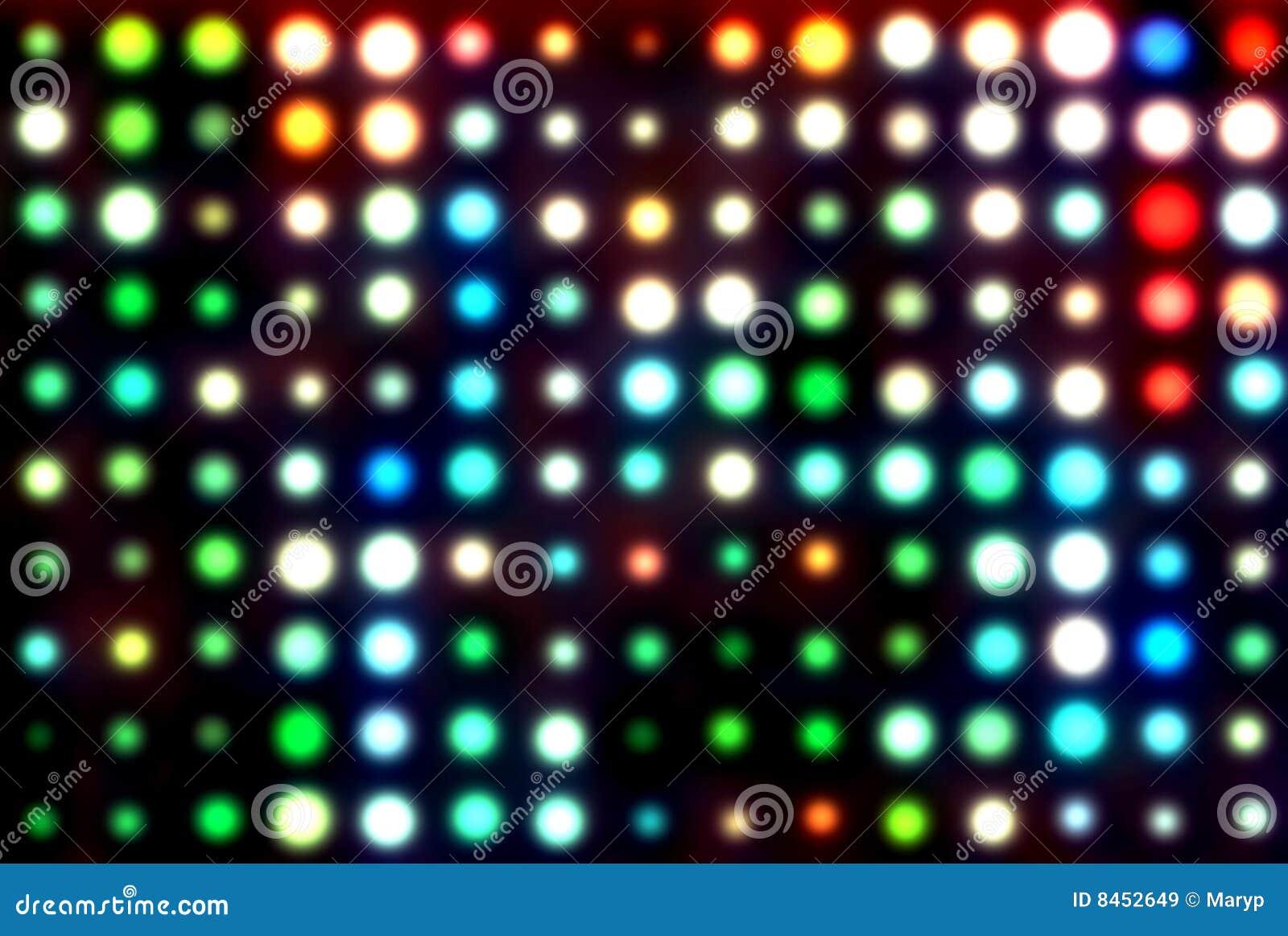 Diskoillustrationlampor