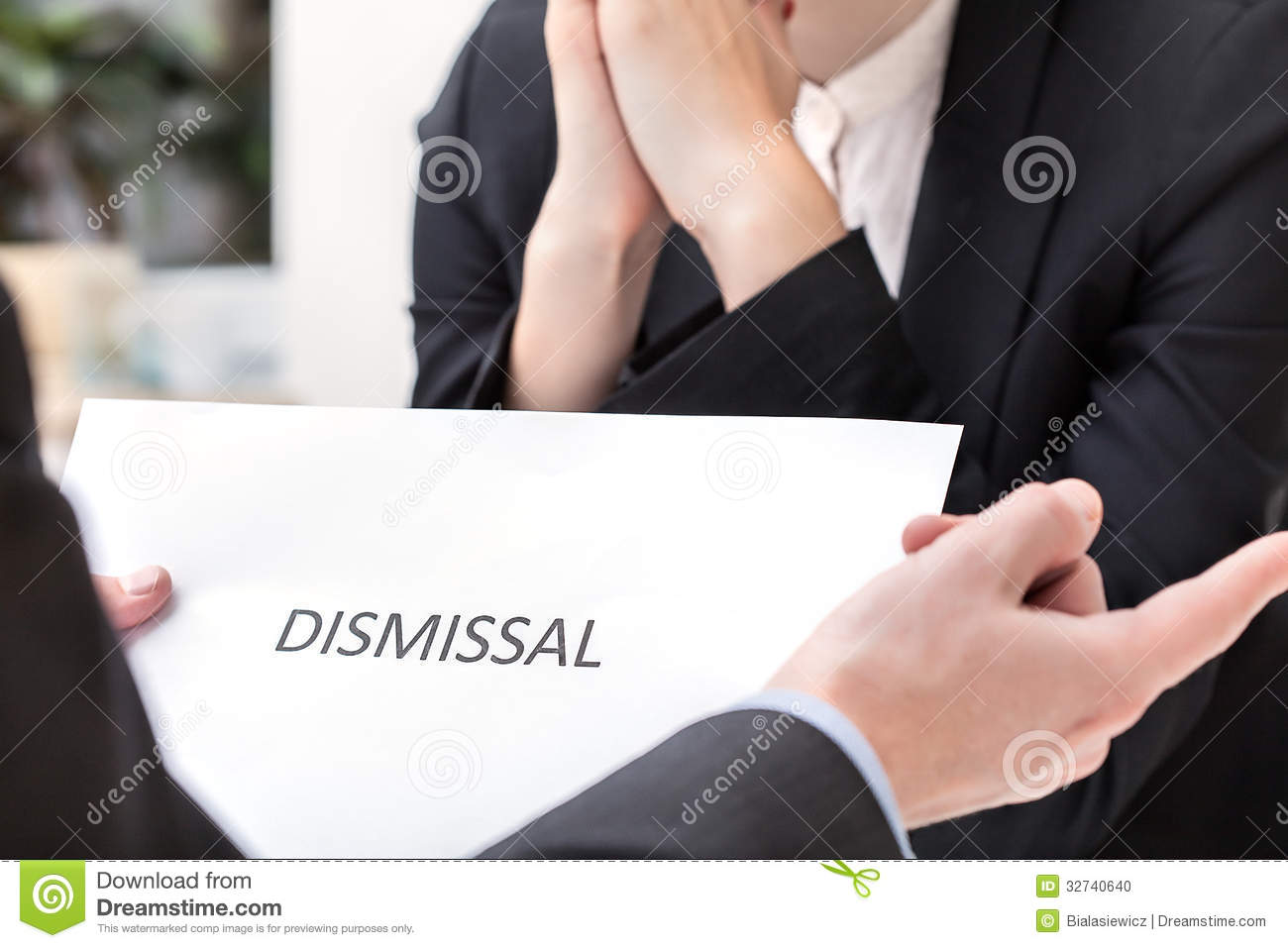 dismissal meeting Termination meetings prepare a termination packet to be hand-delivered at the termination meeting the packet should include a termination letter and benefits.