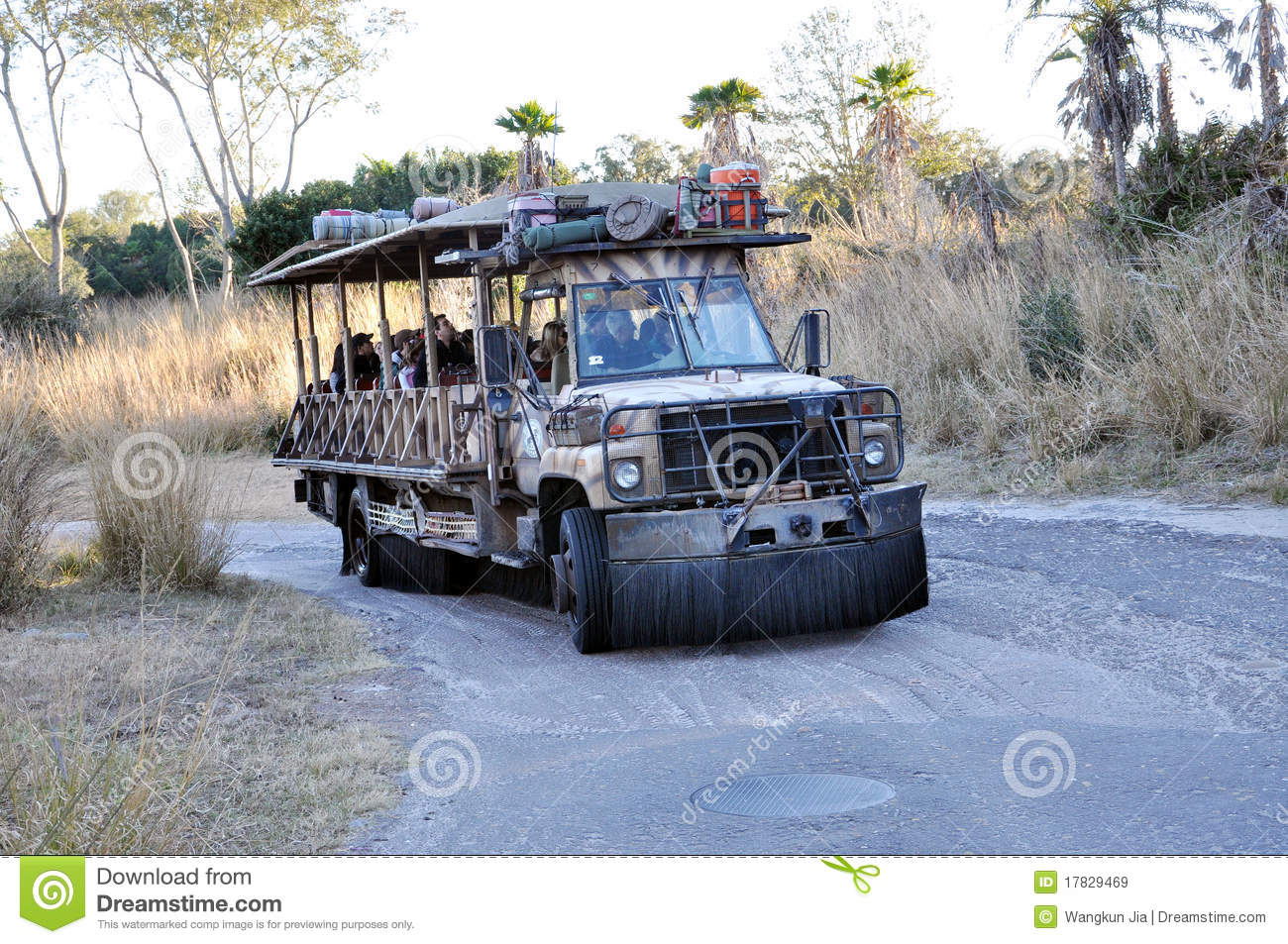 Disney Animal Kingdom Transportation Editorial Stock Image