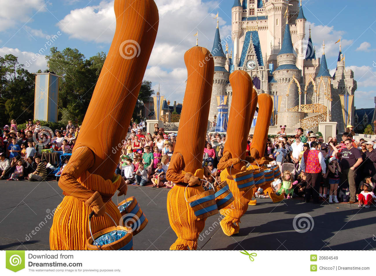 Disney Brooms Fantasia Movie During A Parade Editorial