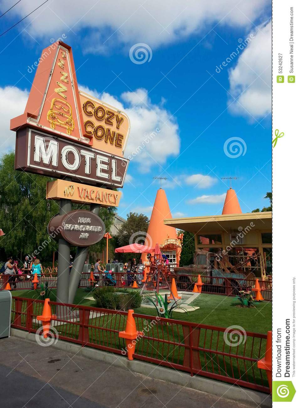 Disney California Adventure Cozy Cone Motel Area Editorial