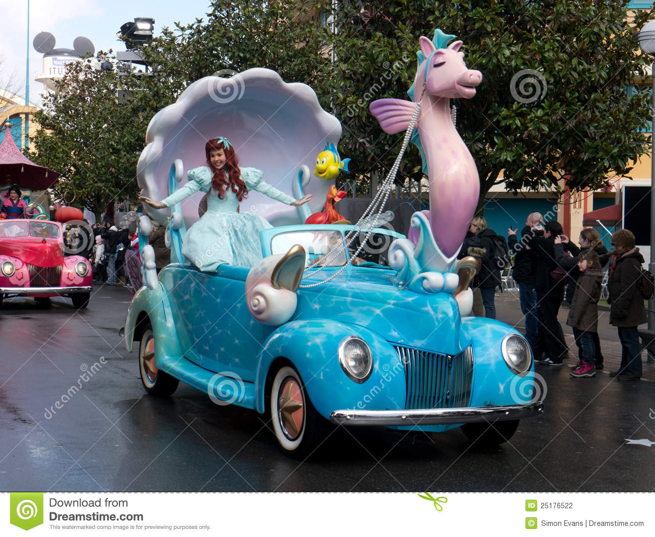 Disney Cars And Stars Parade Little Mermaid Editorial