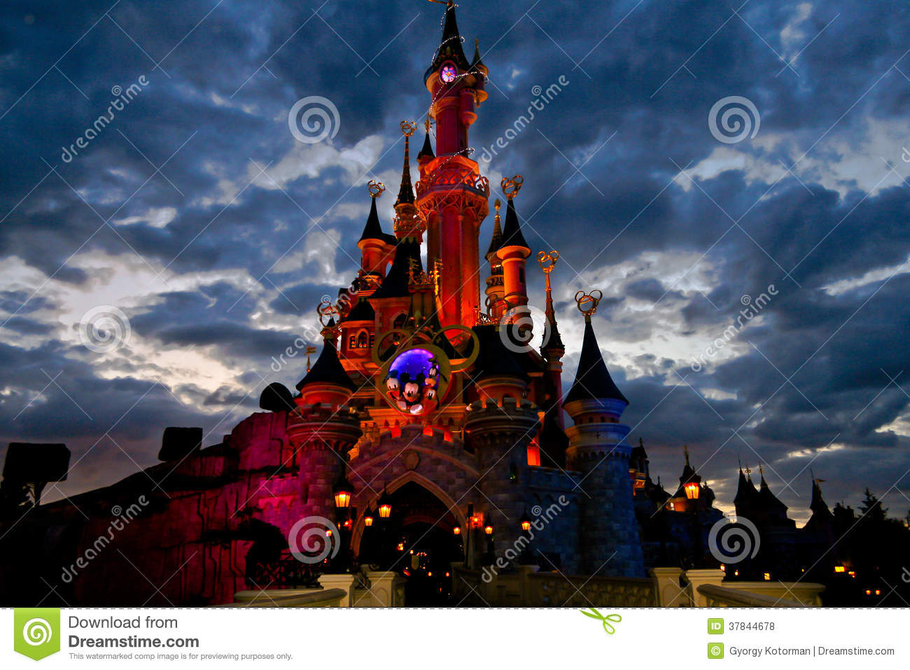 disney castle editorial stock photo image 37844678