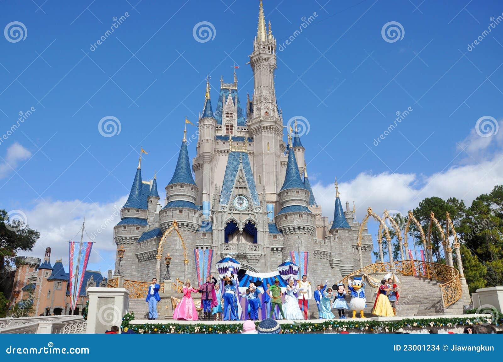 Disney cinderella castle walt disney world editorial stock image