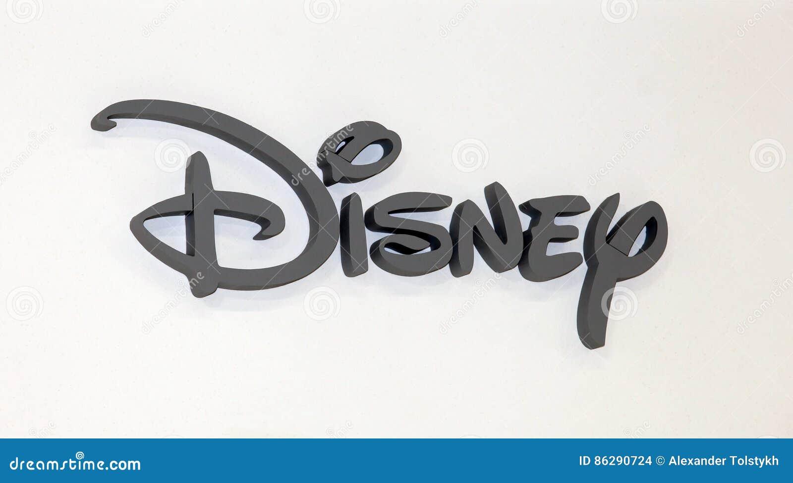 Disney company logo sign grey plastic letters on the white wall disney company logo sign grey plastic letters on the white wall editorial stock photo biocorpaavc Choice Image