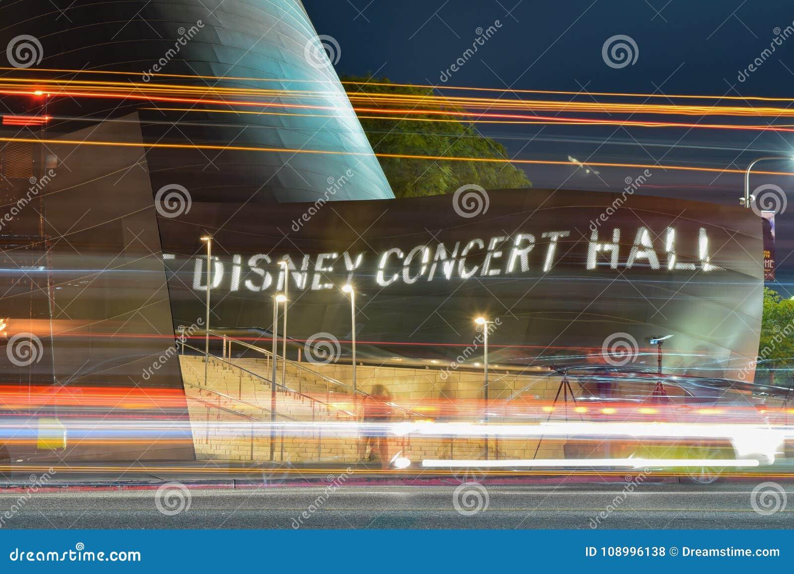 Disney Concert Hall - A long exposure look