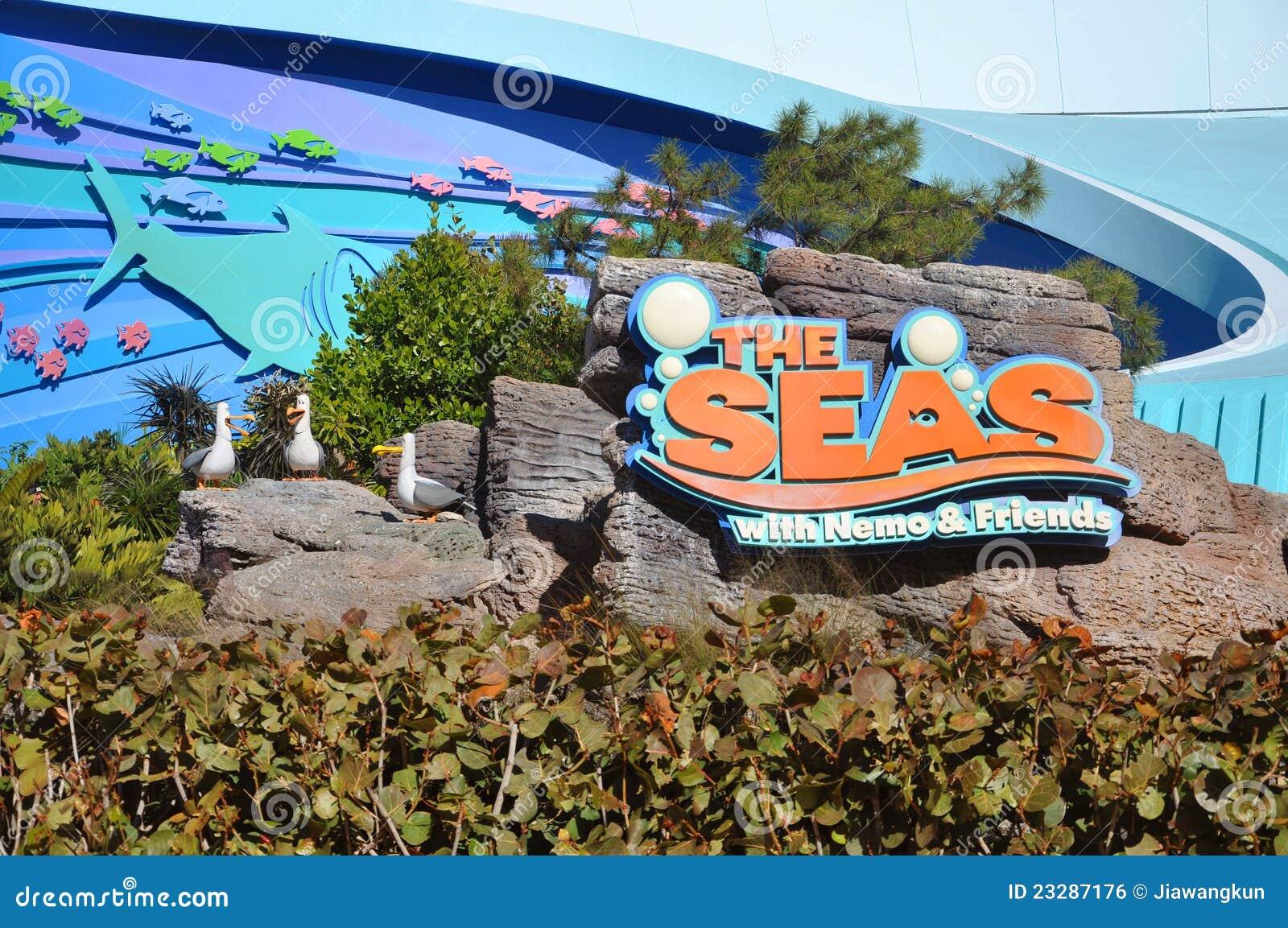 Disney Epcot Center and the Seas, Disney World Orlando, Florida, USA.