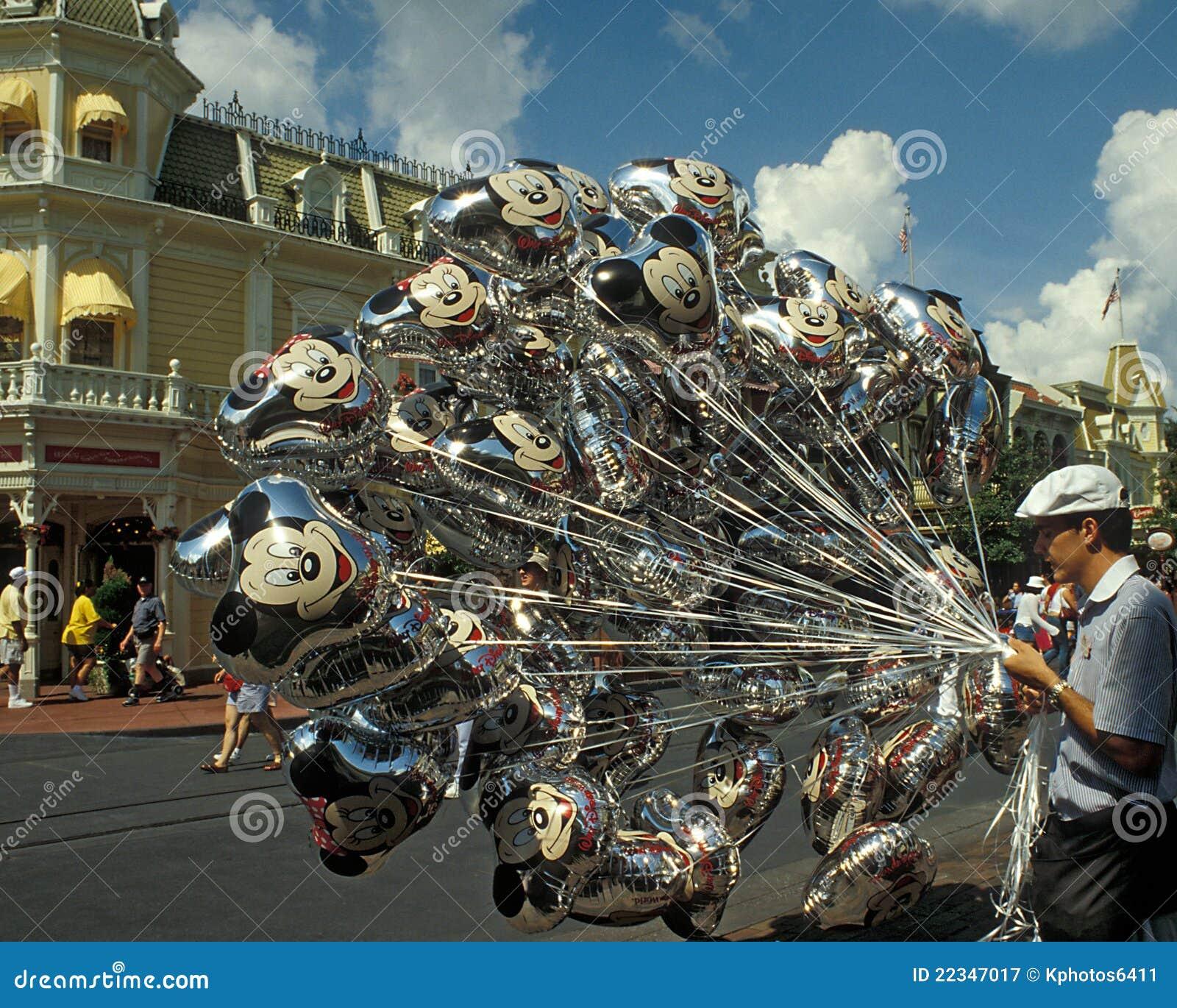 Disney Magic Kingdom Balloon Seller Editorial Photography