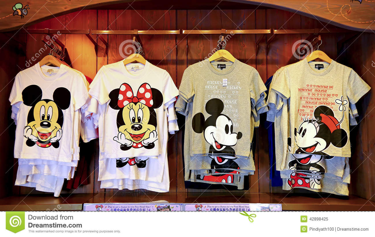 Disney mickey and minnie mouse t-shirts collection