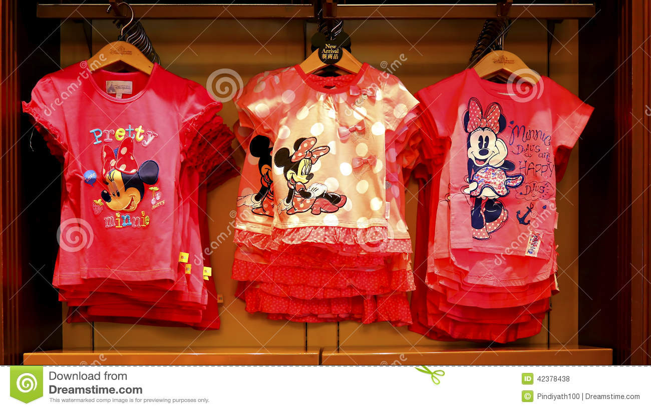 Disney minnie mouse t shirts collection editorial stock photo image