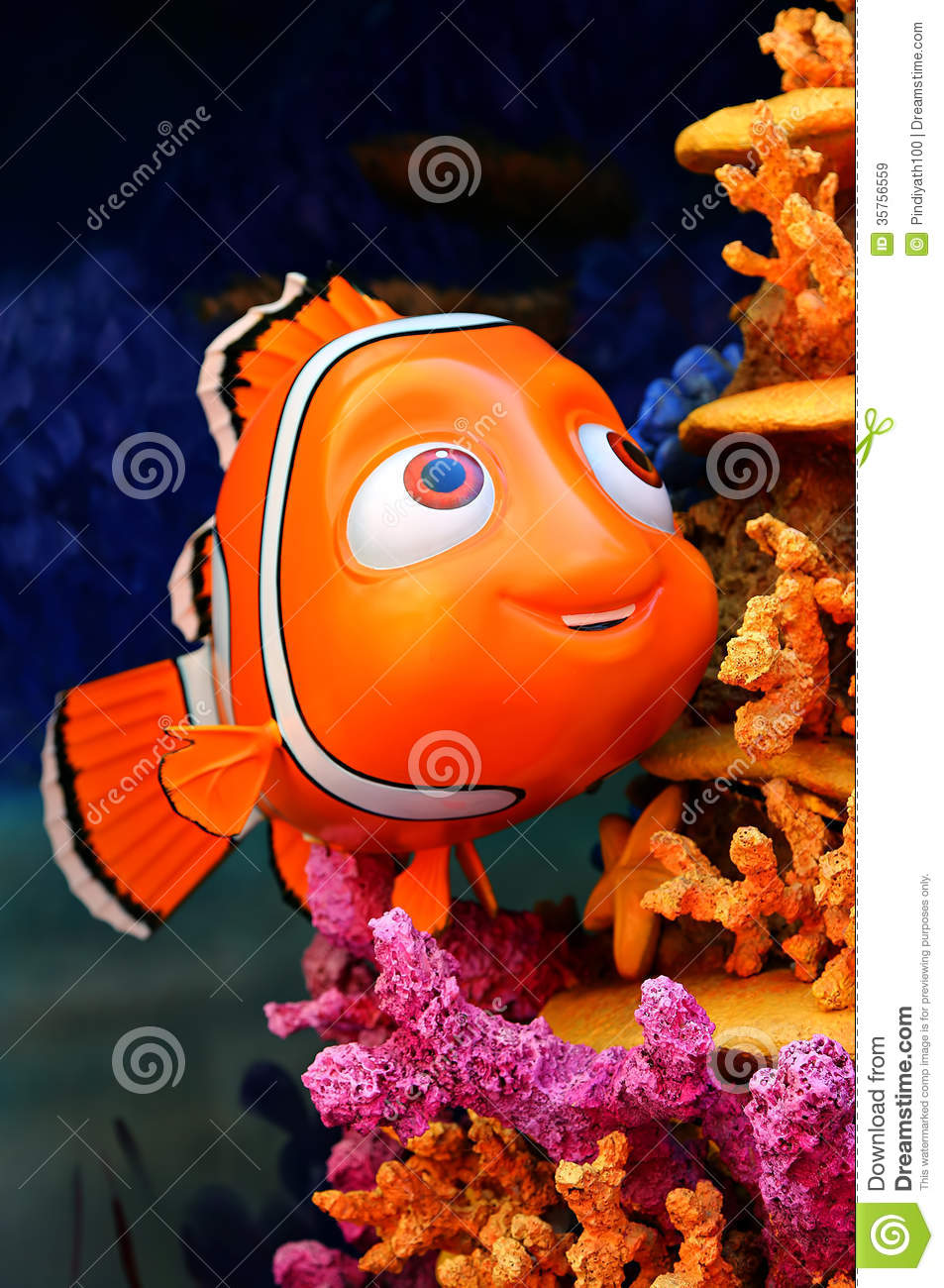 Of nemo the little cute fish from disney pixar movie finding nemo