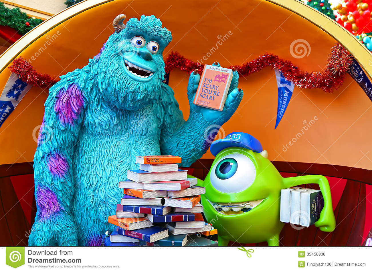 Famous characters from disney pixar movie monsters inc james p
