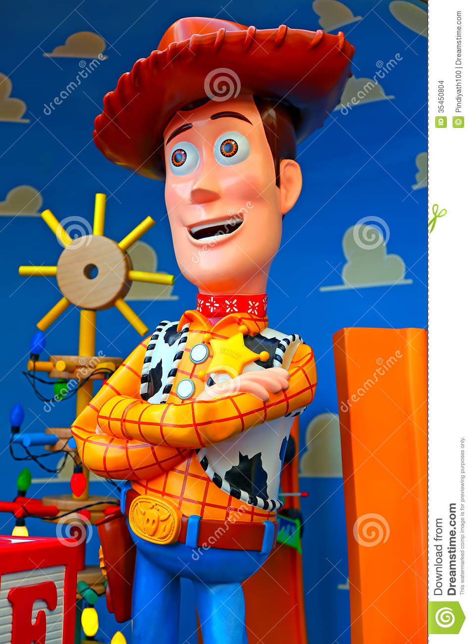 Disney Pixar Toy Story Character Woody Editorial Stock Image - Image ...