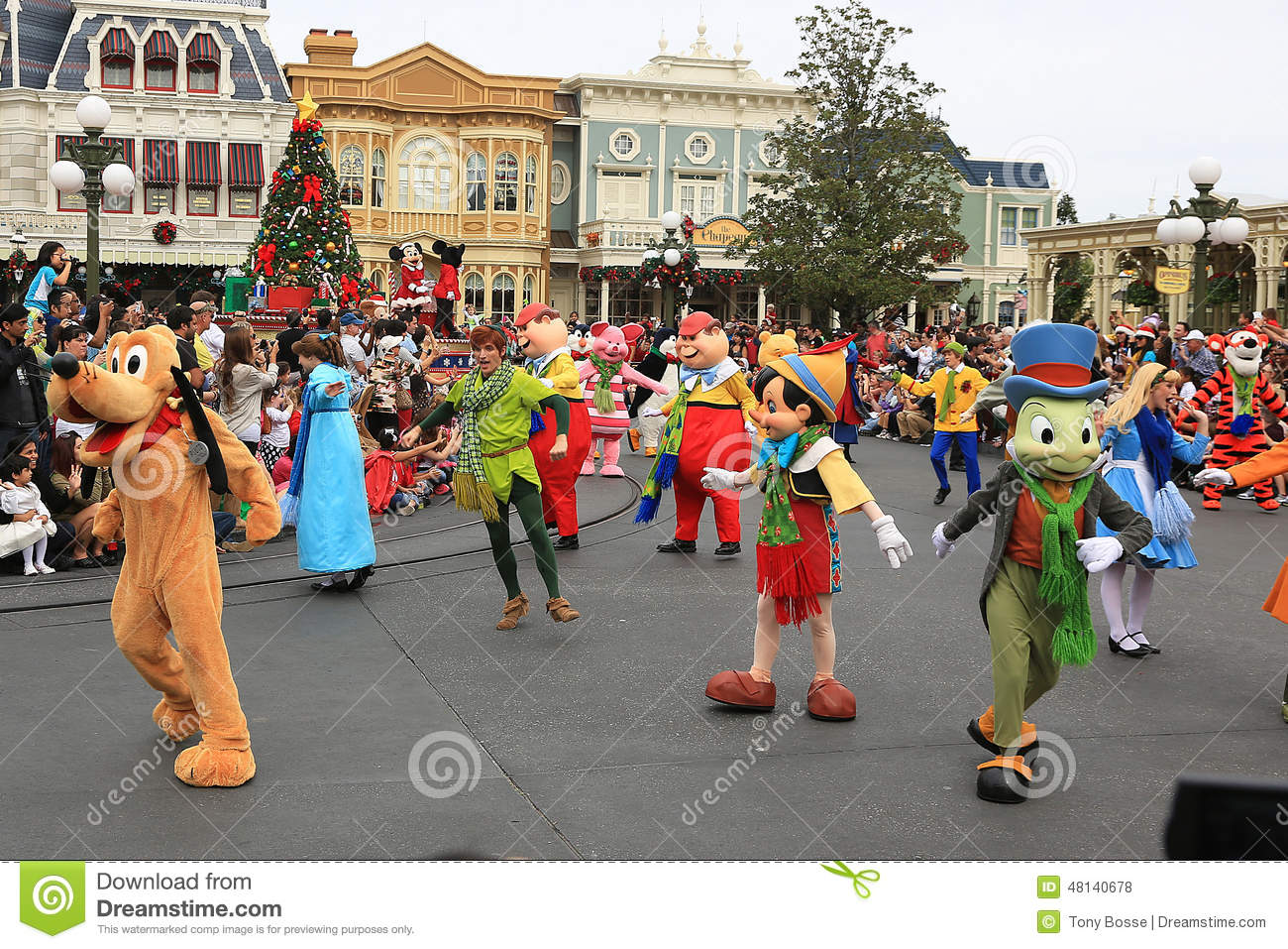 Christmas Day Parade.Disney S Christmas Parade Editorial Stock Photo Image Of