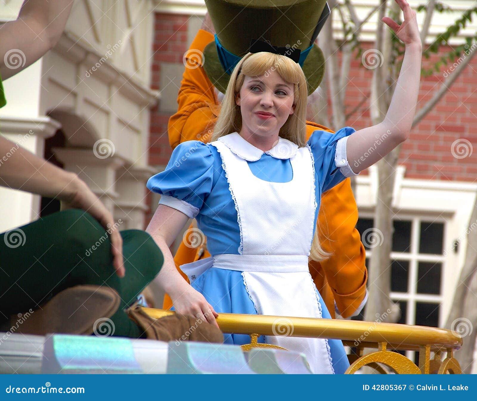 Disney's Cinderella Character At Disney World Editorial