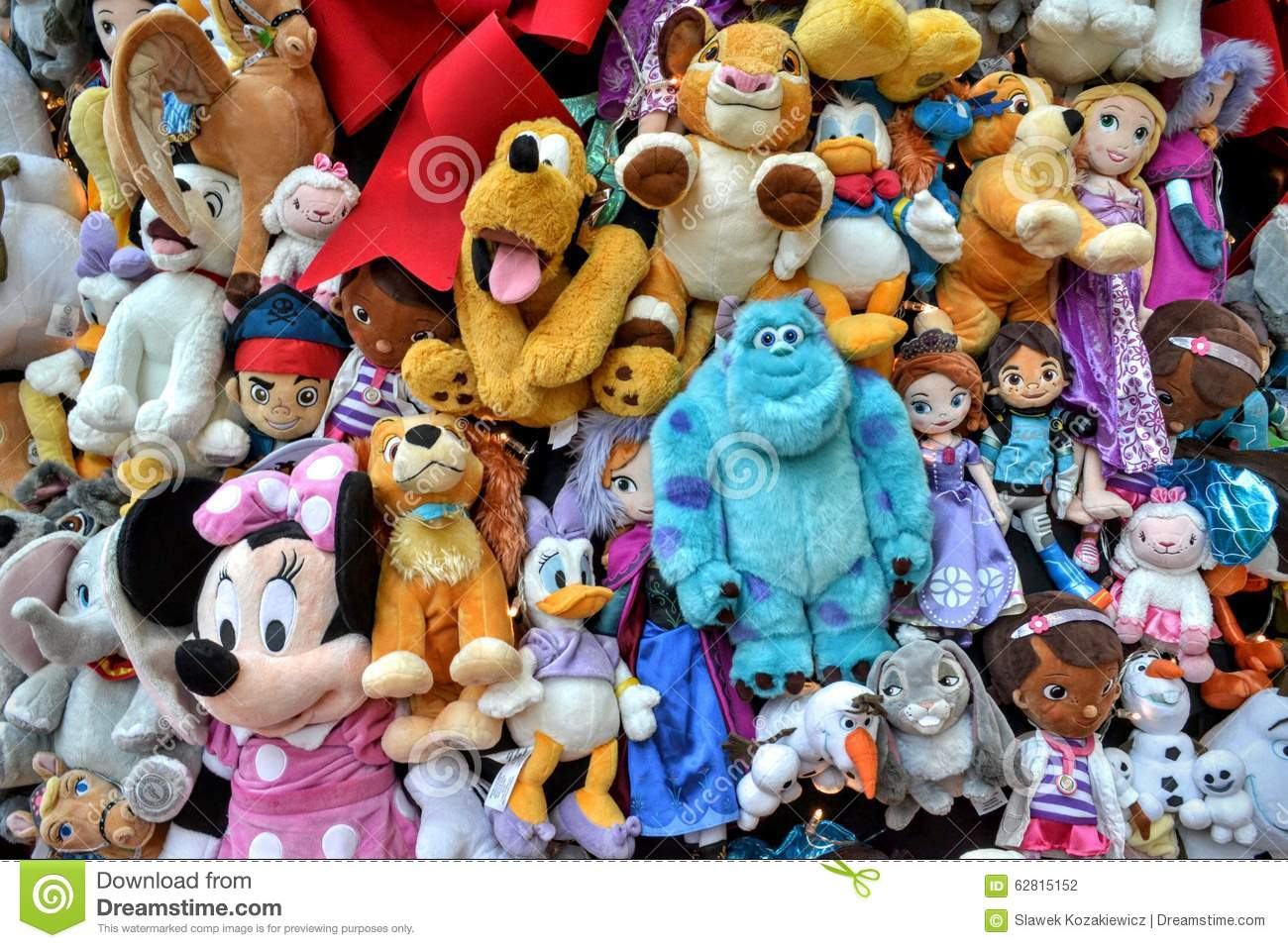 Disney Soft Toy Collection Editorial Photography