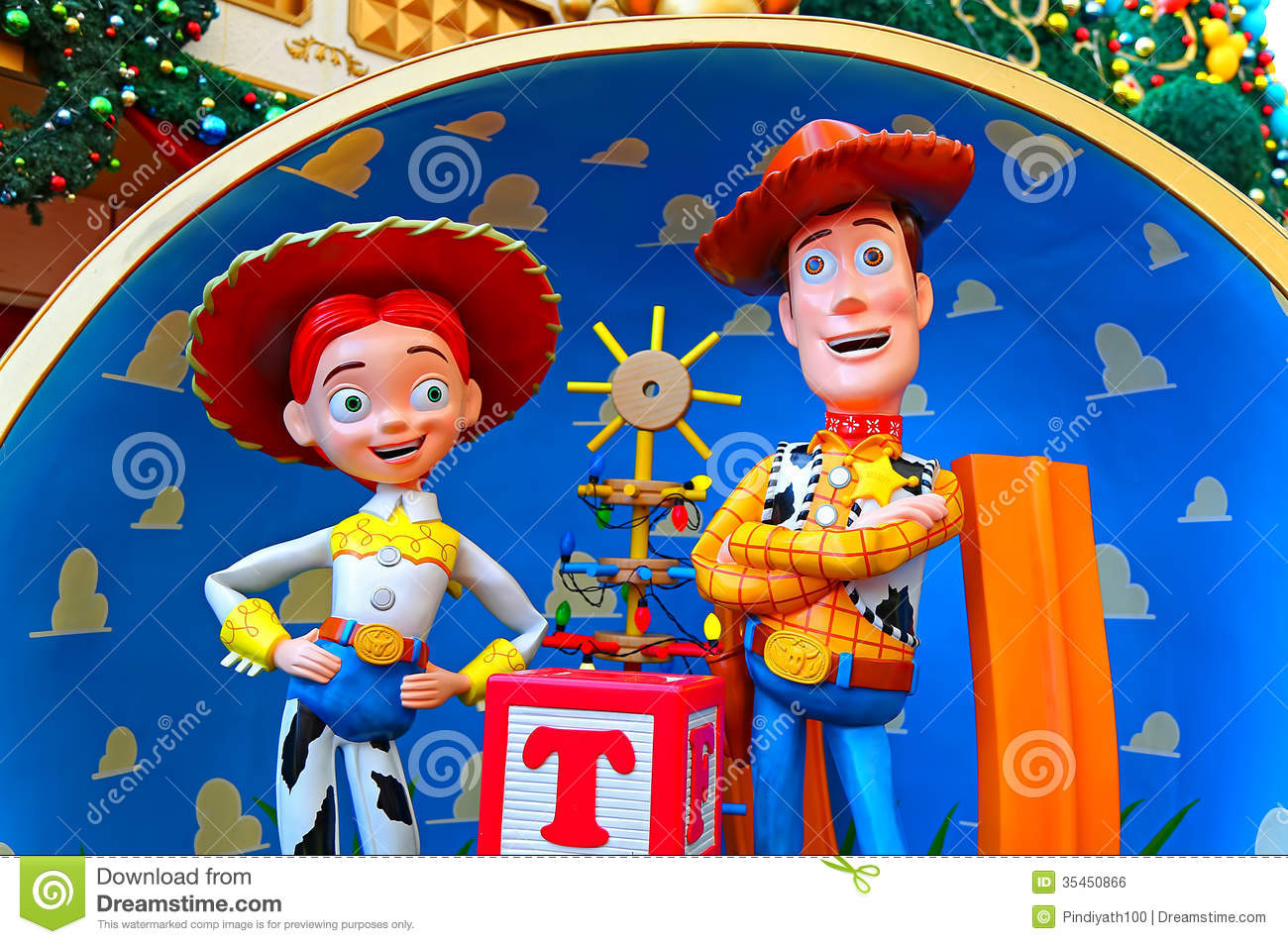 Disney Pixar Toy Story Characters Woody And Jessie Editorial Photo ...