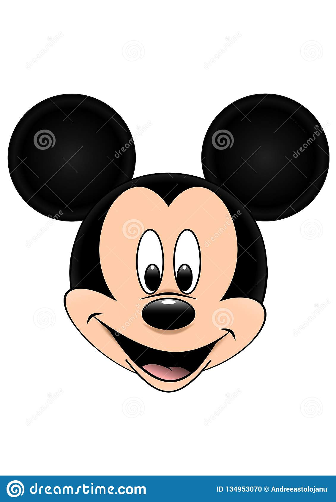 Disney Vector Illustration Of Mickey Mouse Isolated On White