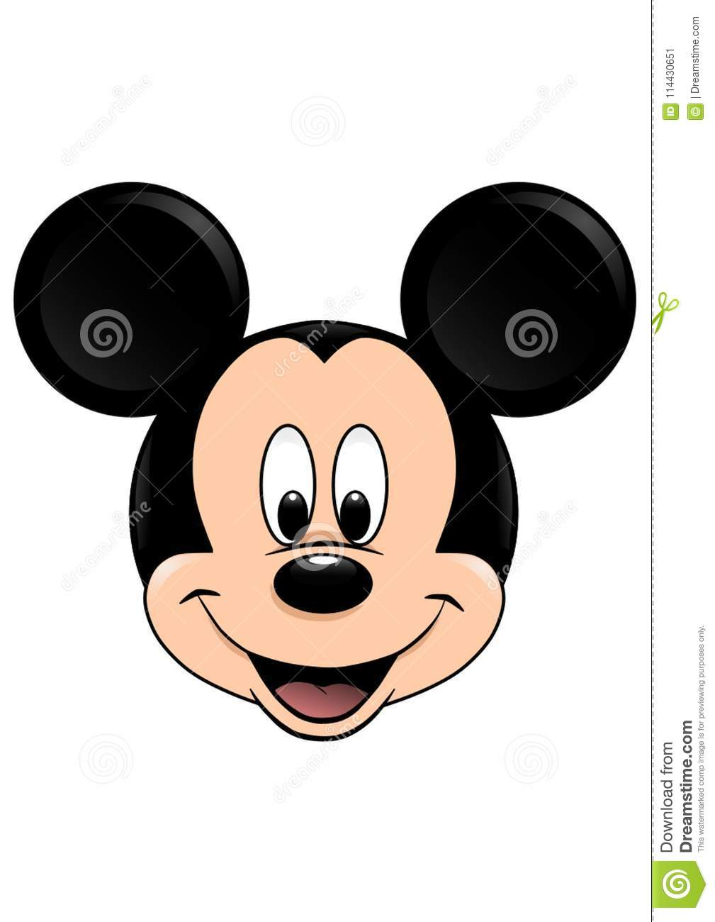 Close Up Characters Cartoon 01 : Mouse cartoons illustrations vector stock images