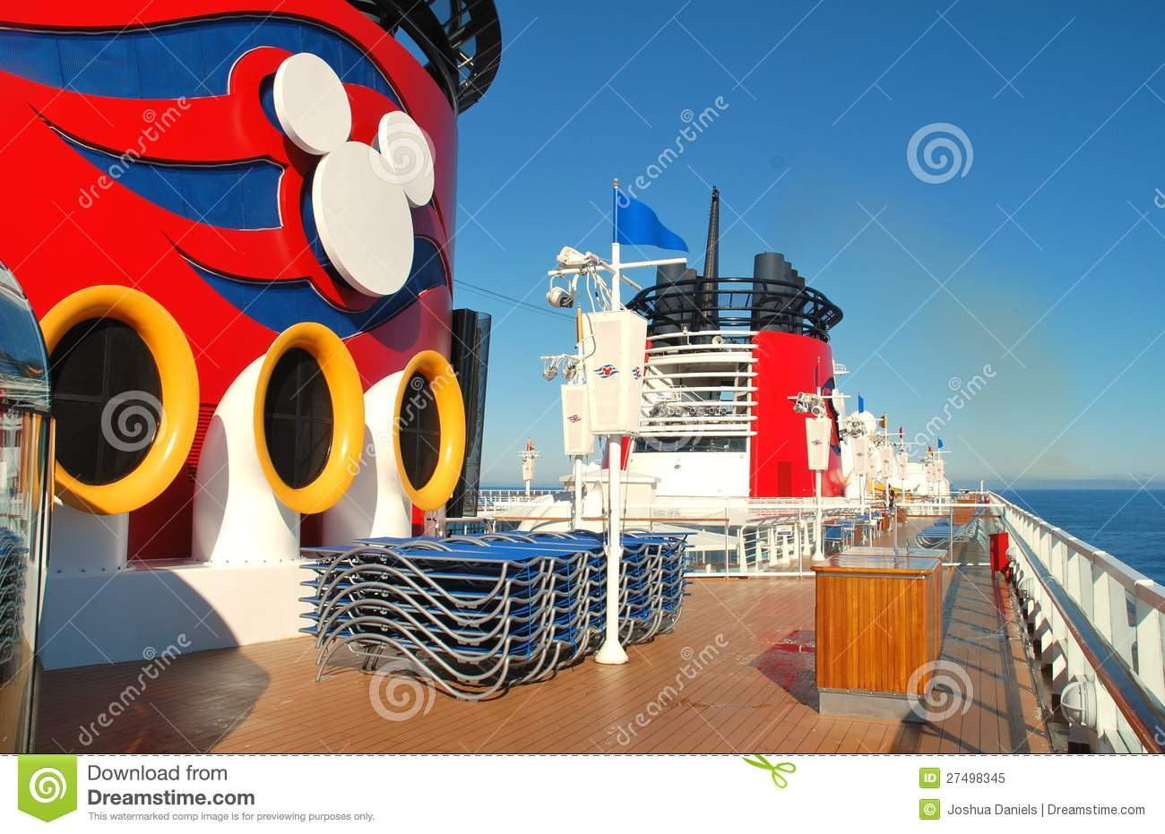 The Disney Wonder S Funnels Under California Sky Editorial Image Image 27498345