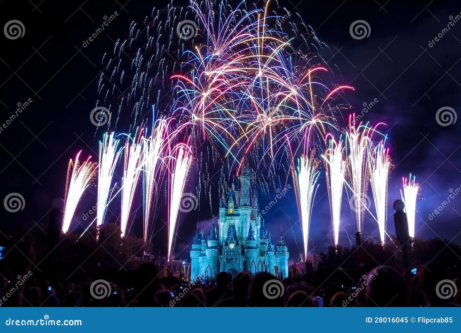 Disney World Castle Fireworks Editorial Image Image Of Firework