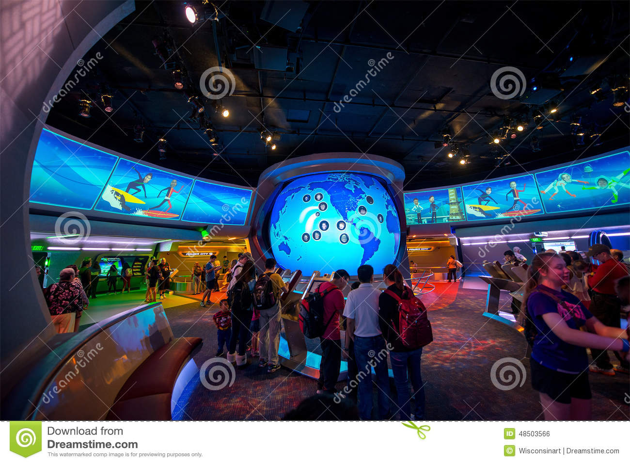 Disney World Epcot Center Spaceship Tomorrow Editorial Photo - Image ...