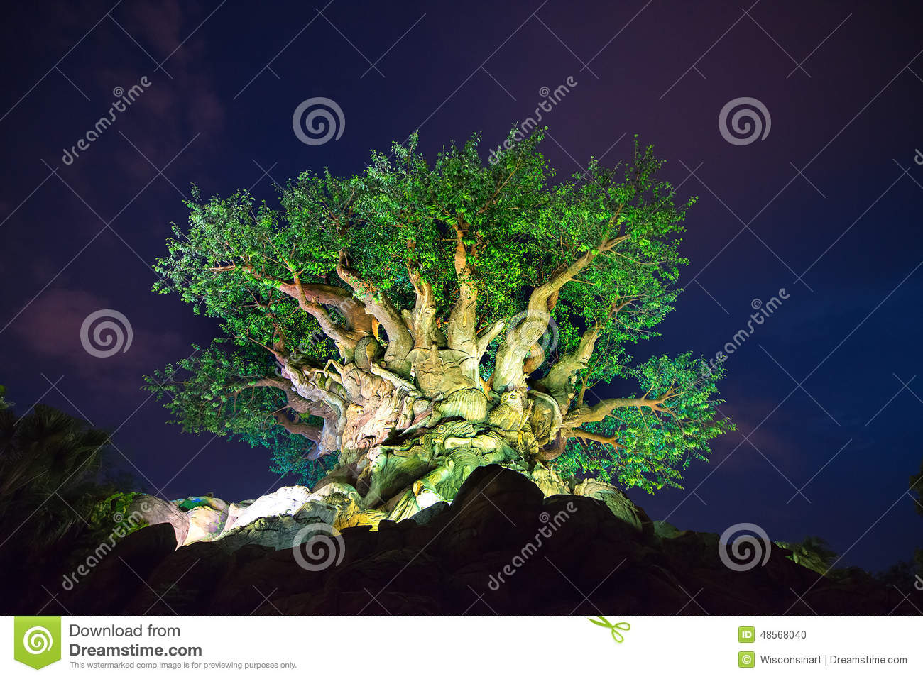 Disney World Tree Of Life Animal Kingdom Editorial Image Image Of
