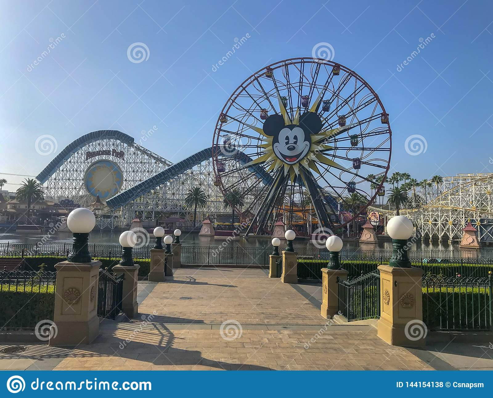 Disneyland's Kalifornien affärsföretag Mickey Mouse Farris Wheel