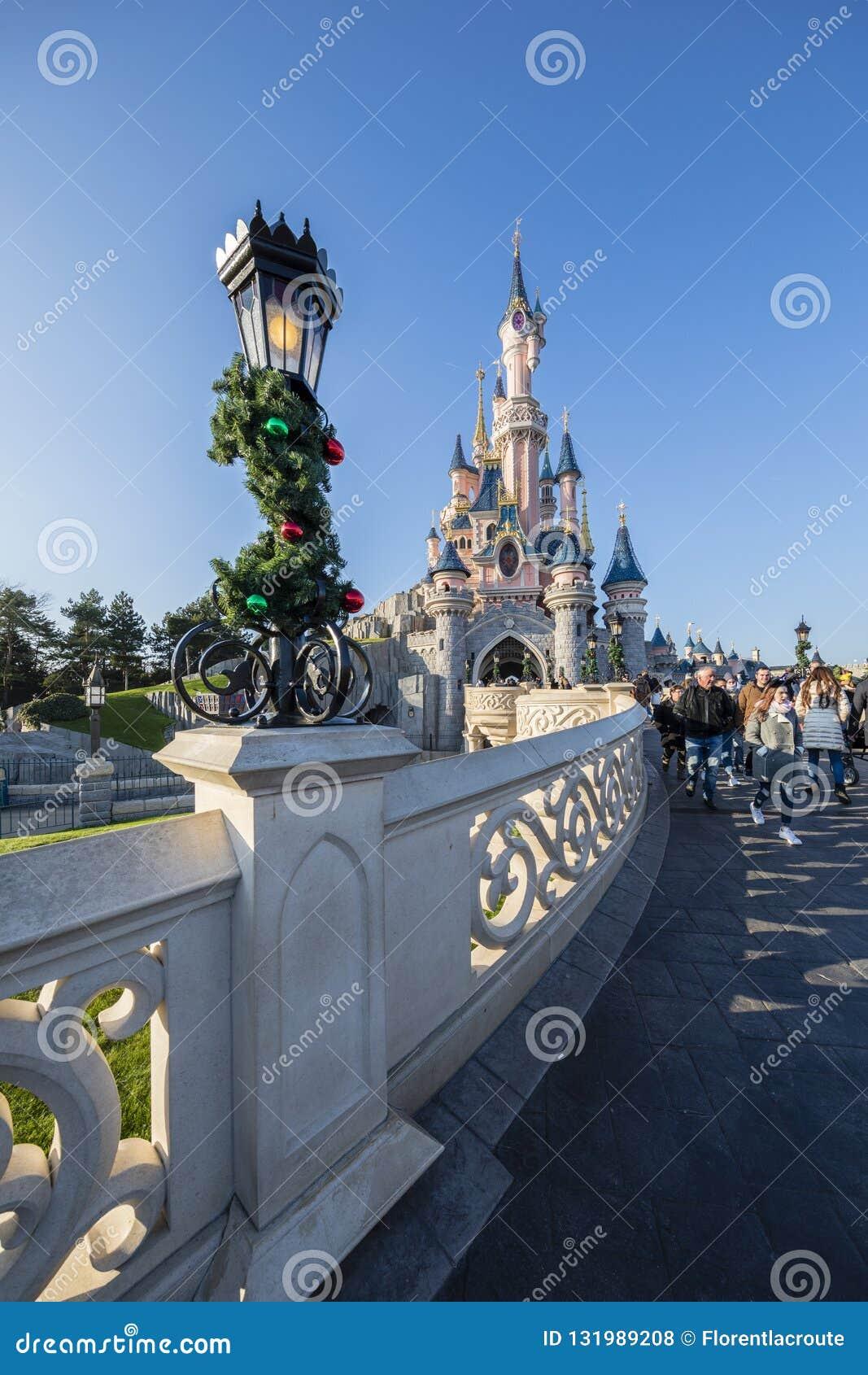Disneyland Παρίσι, Γαλλία, το Νοέμβριο του 2018: Castle της ομορφιάς ύπνου