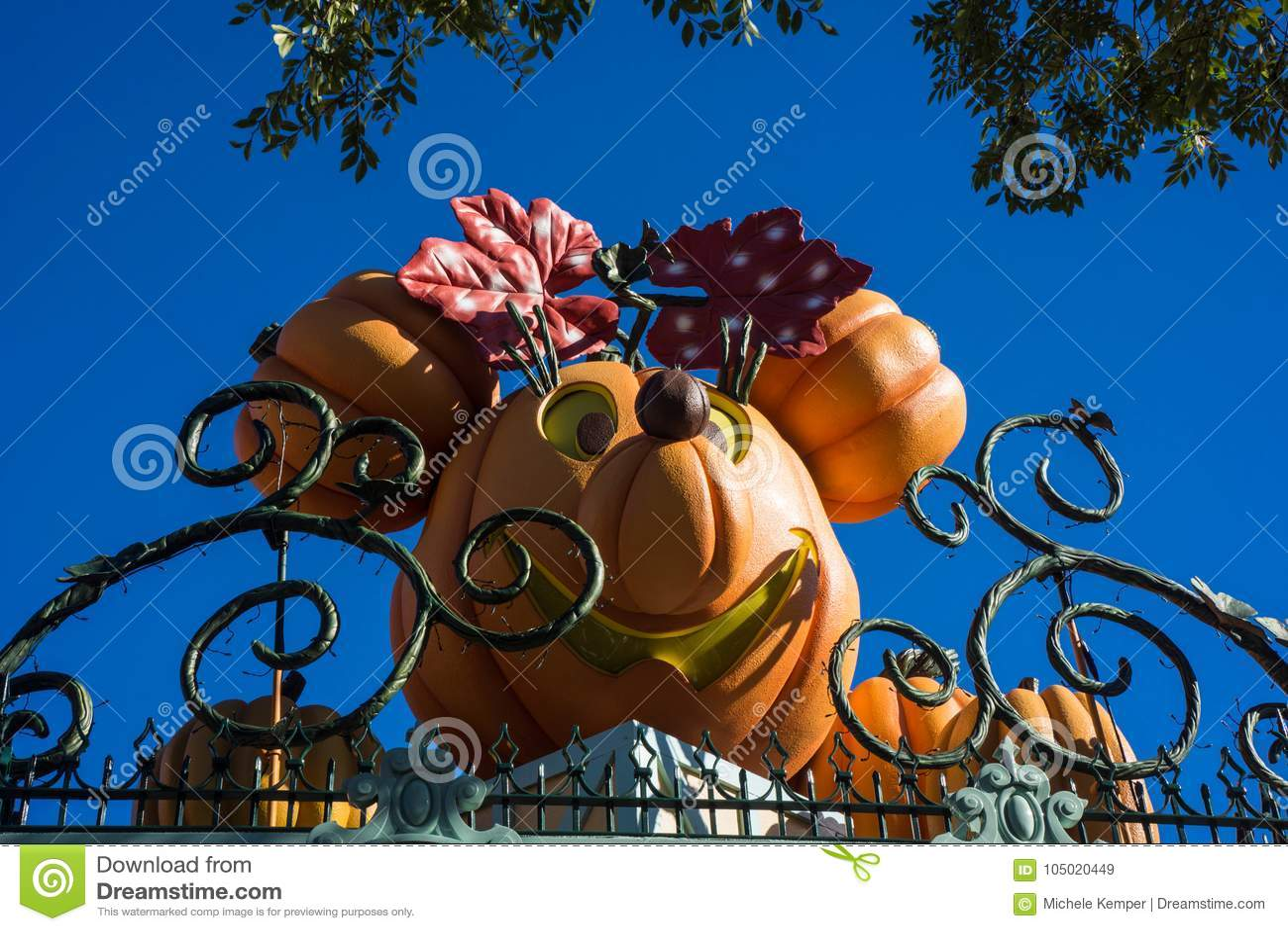 Disneyland allhelgonaaftondekor Minnie Mouse