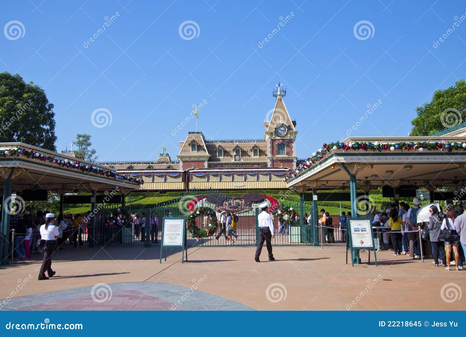 Disneyland ingång Hong Kong