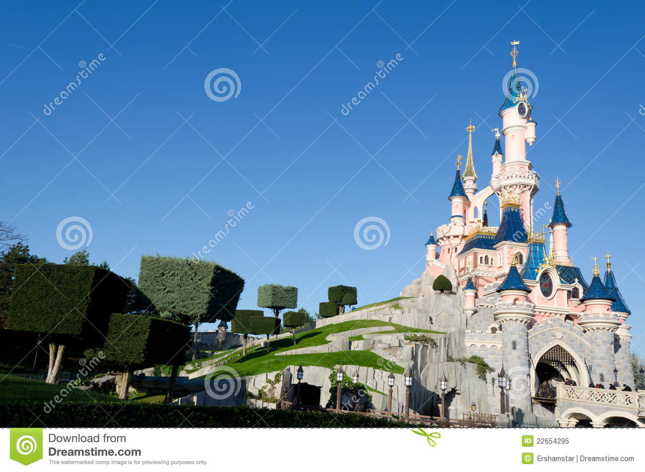 Disneyland paris castle editorial image