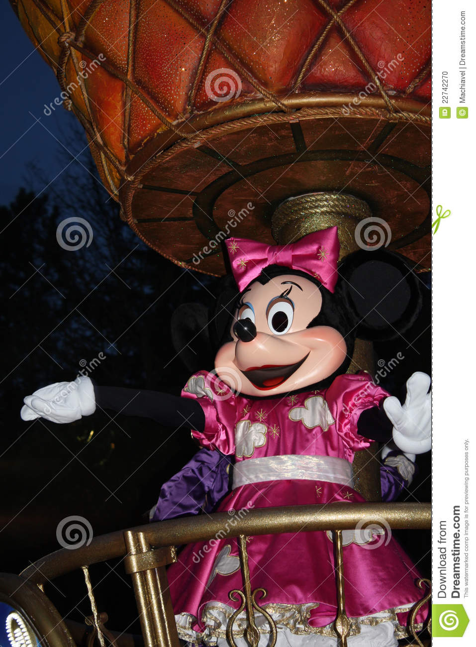 Disneyland paris parade at night editorial image