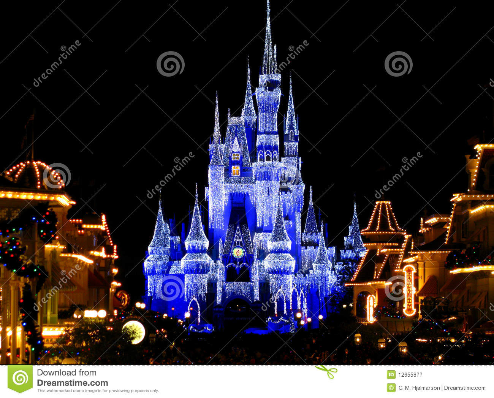 Disneyworld Magic Kingdom Castle Lights 1