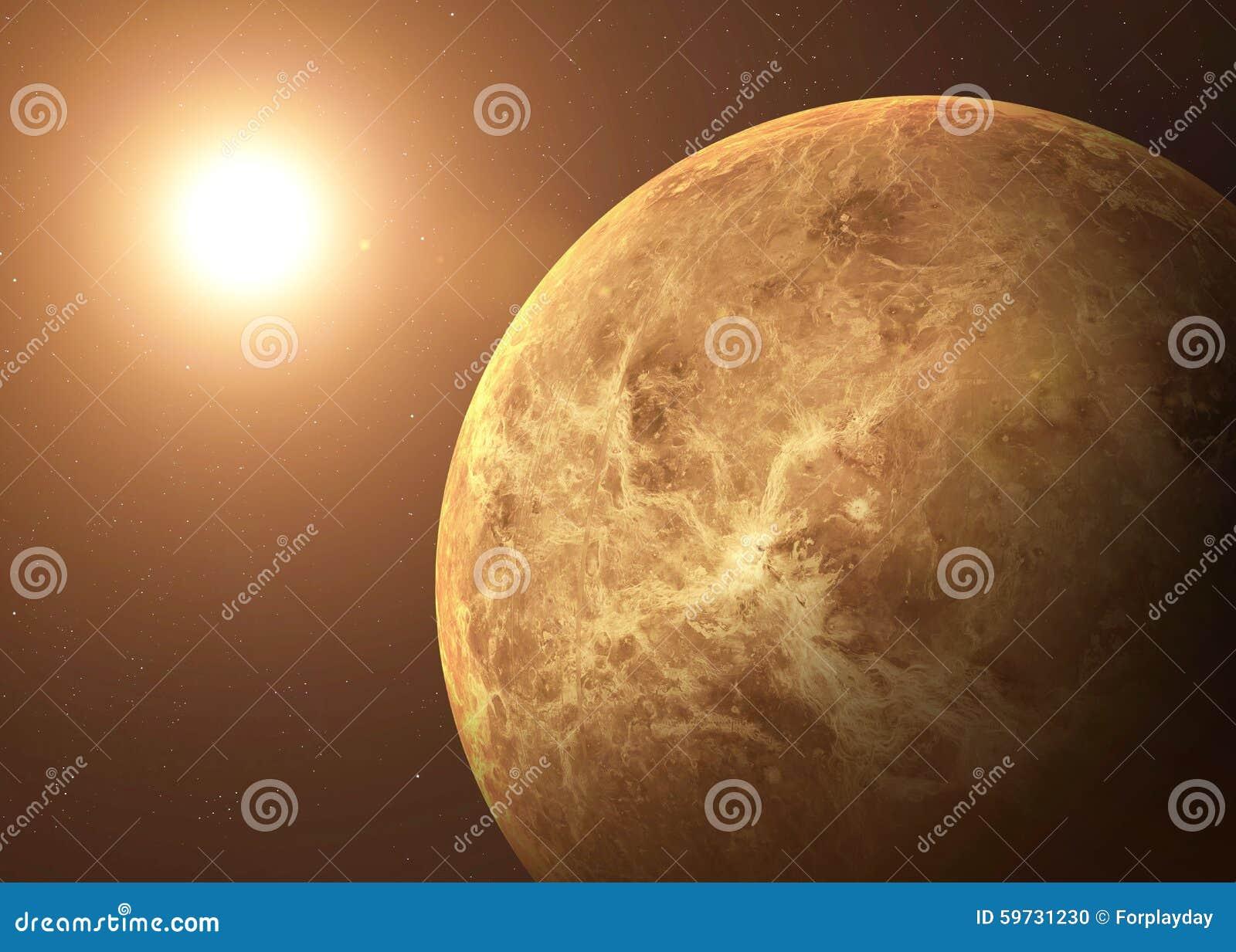 Disparado do Vênus tomado do espaço aberto collage