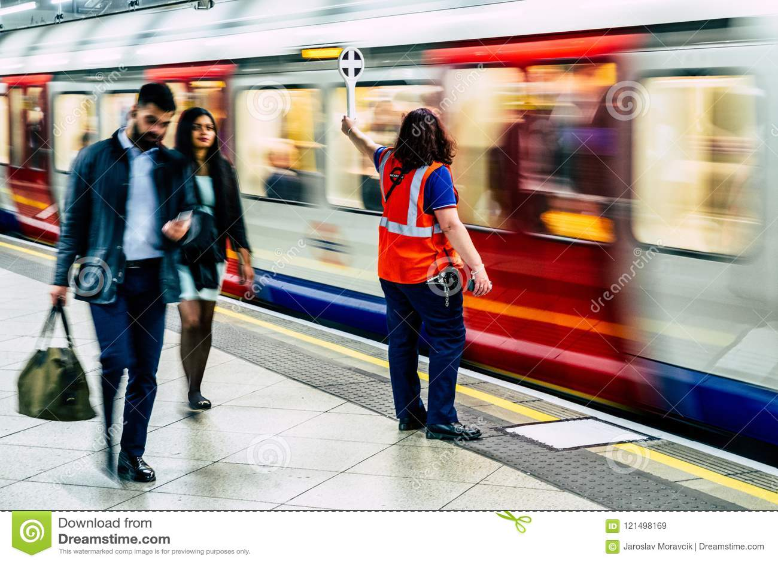Dispatcher in London subway