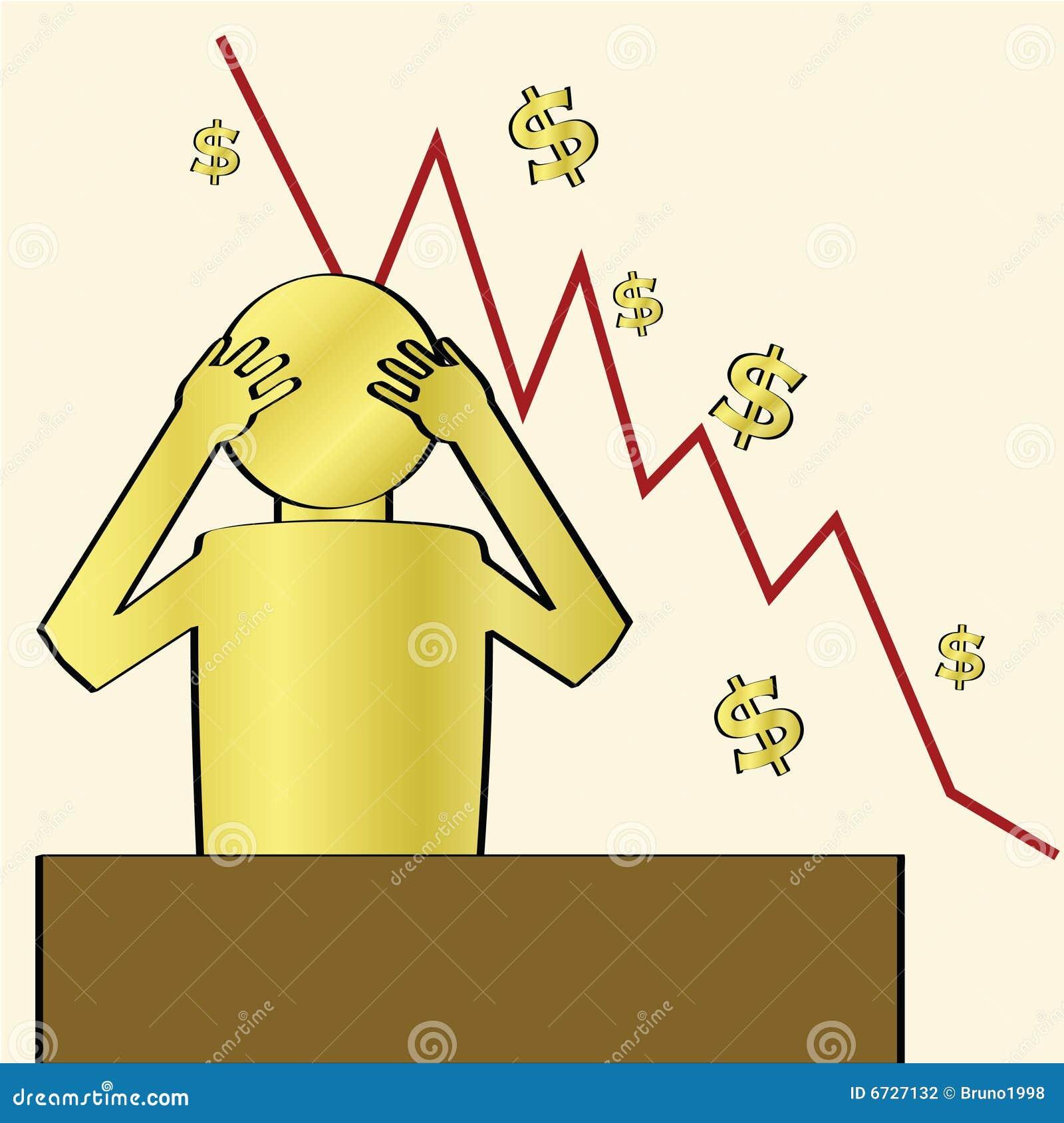 Disperazione di crisi finanziaria