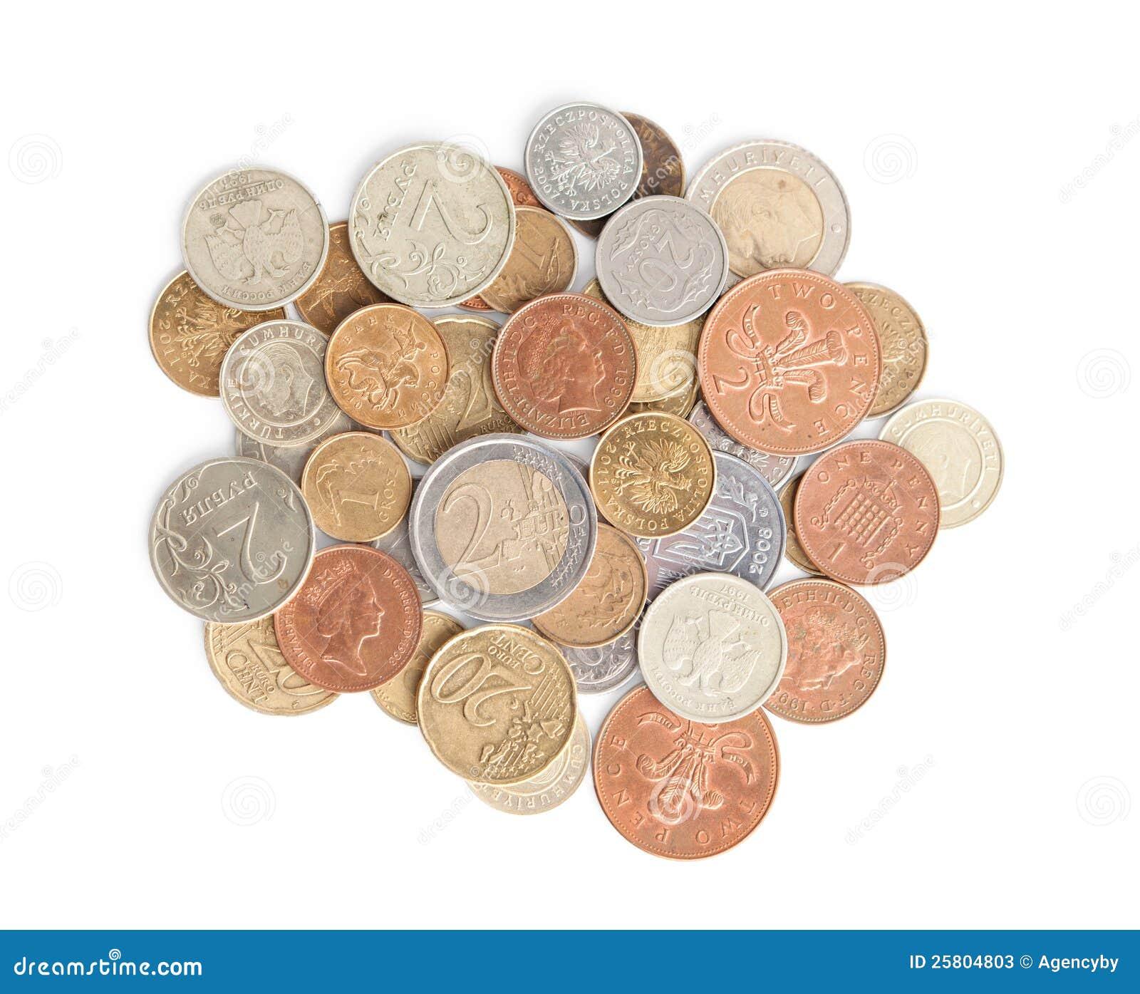 Dispersando moedas da prata e de ouro