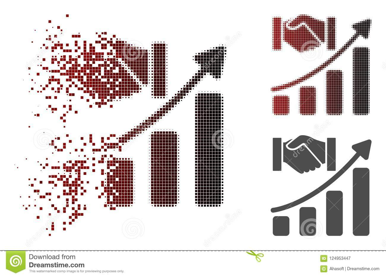 Dispersed Pixelated Halftone Acquisition Hands Growth
