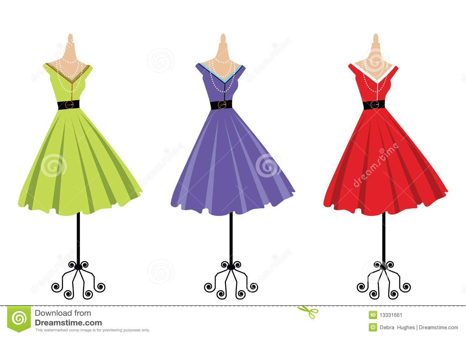 vintage dresses clipart - photo #23