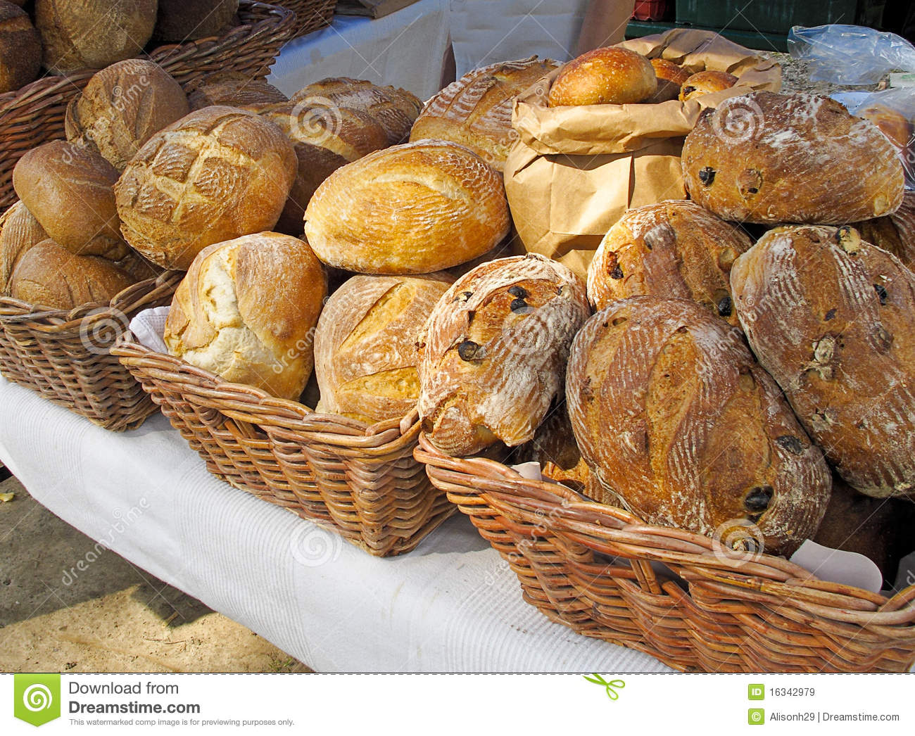 ... Of Bread At Farmers Market Royalty Free Stock Images - Image: 16342979