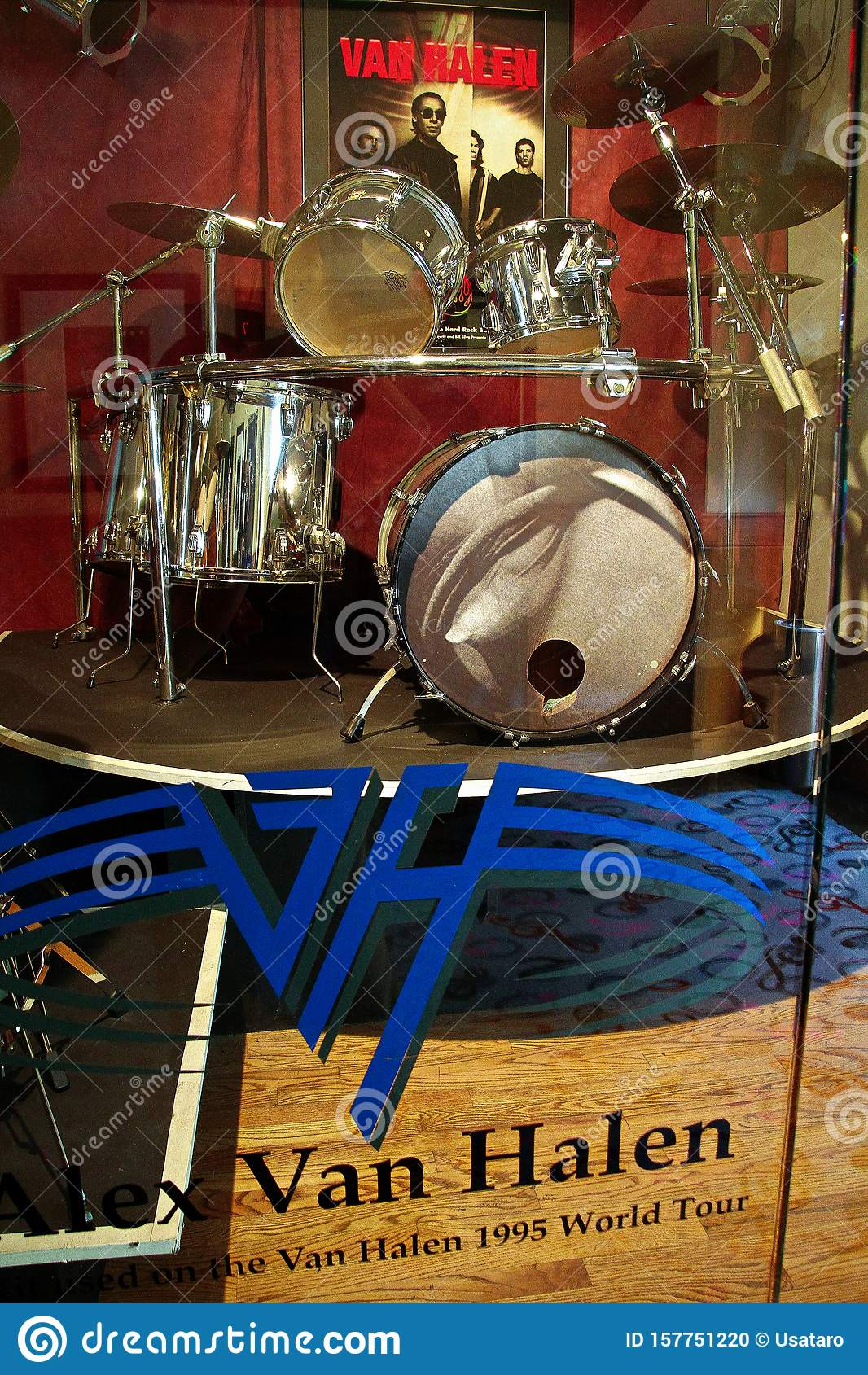 Display Of Drum Kit Used By Alex Van Halen Editorial Image Image Of Decoration Nevada 157751220