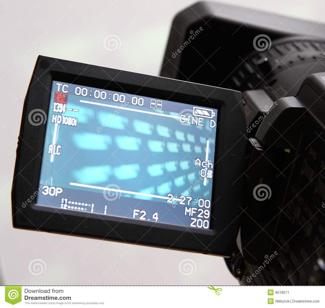 Display Of An Full HD Camcorder Stock Image - Image of screen ...