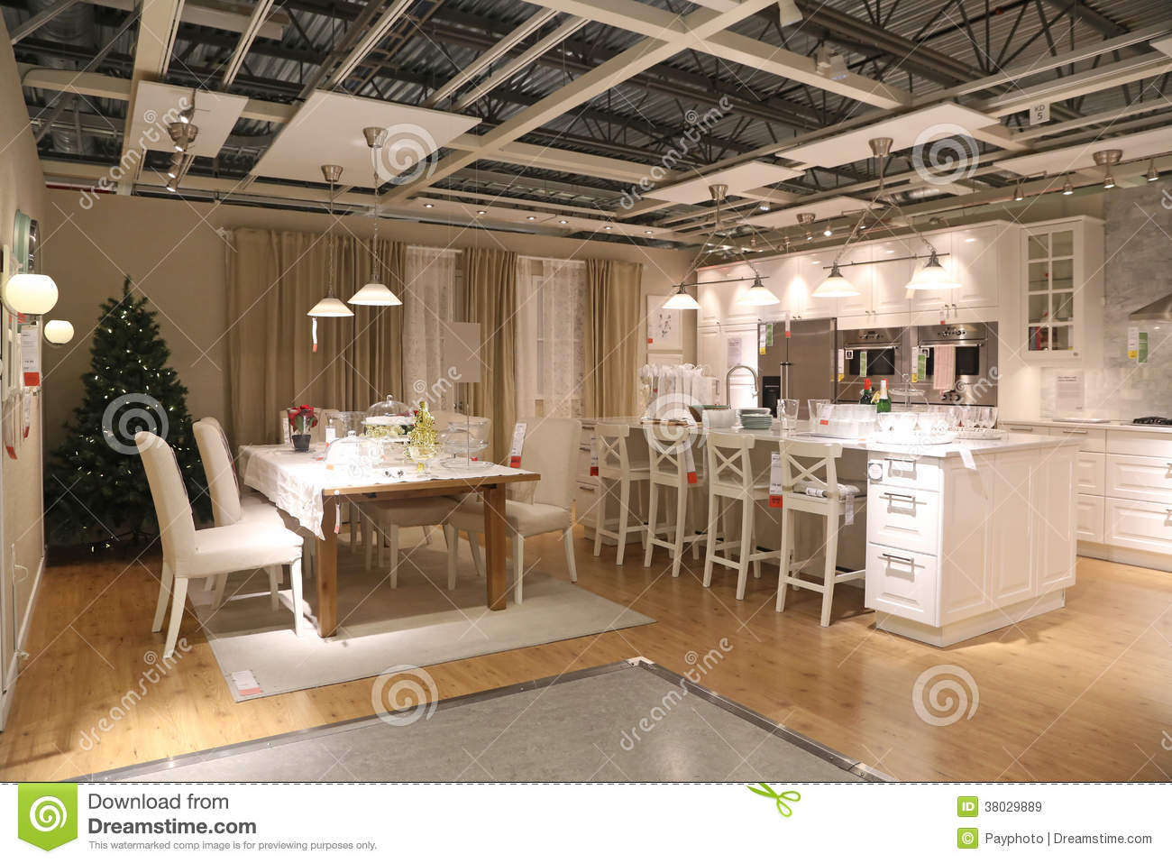 Display Furniture Set Of IKEA Coquitlam Store Royalty Free Stock Images