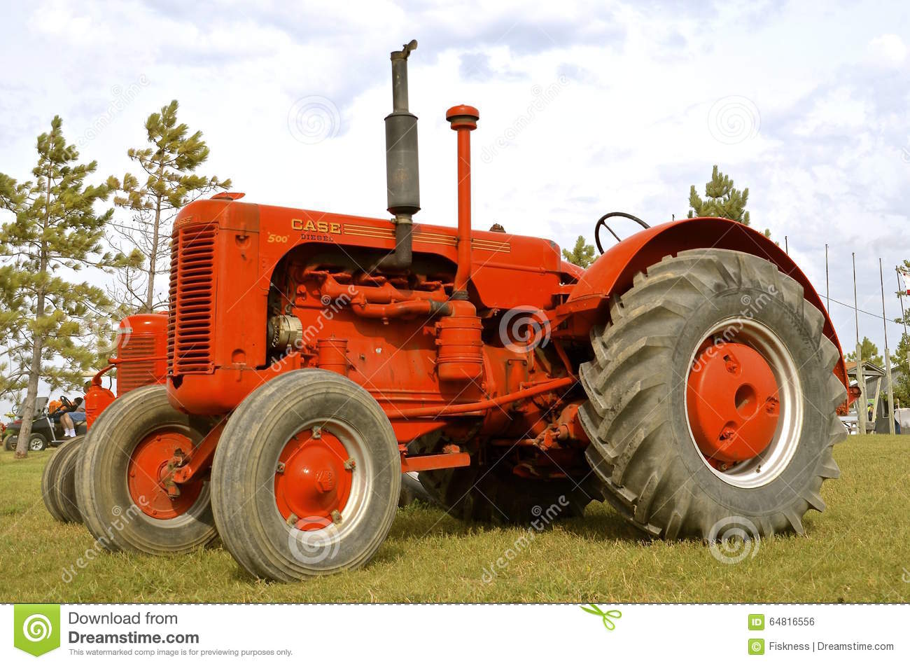Old Case Tractor : Display of restored old case tractor editorial photo
