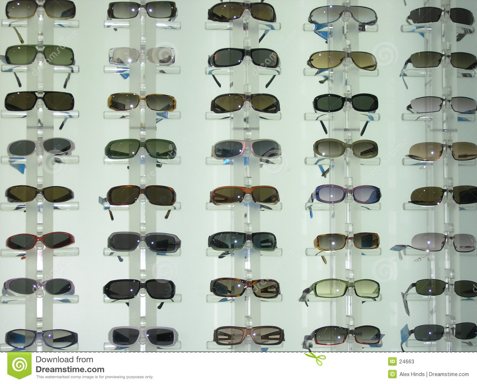 Display sunglasses